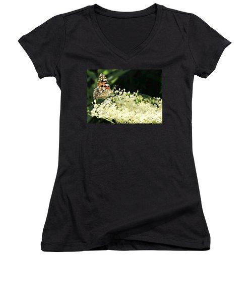 Elderflower And Butterfly Women's V-Neck