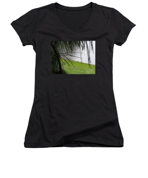 Women's V-Neck T-Shirt (Junior Cut) featuring the photograph Elements by Greg Patzer