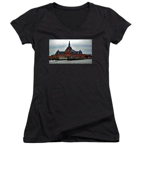 Communipaw Terminal No. 49 Women's V-Neck T-Shirt