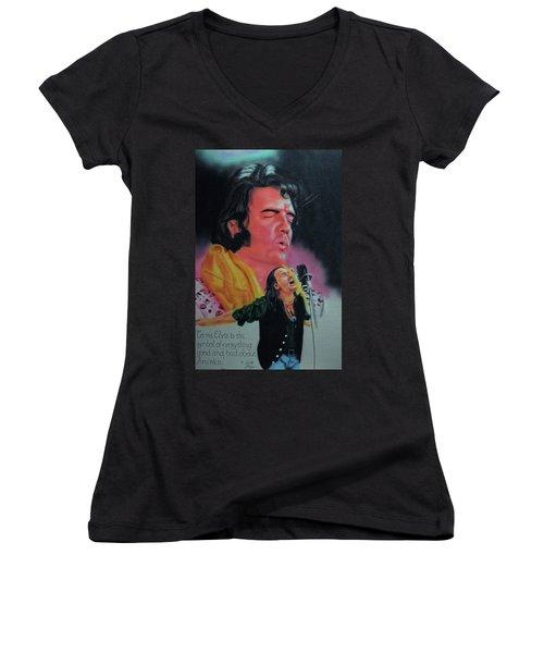 Elvis And Jon Women's V-Neck