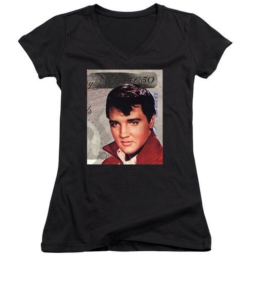 Elvis Presley Women's V-Neck