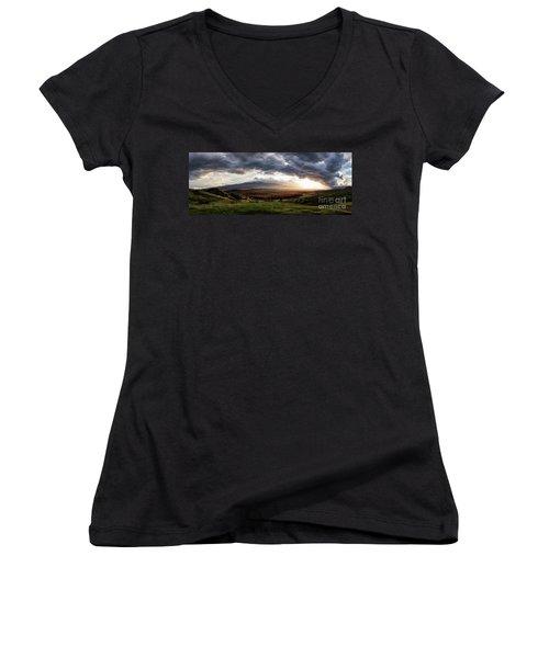 Elysium Women's V-Neck T-Shirt (Junior Cut) by Giuseppe Torre