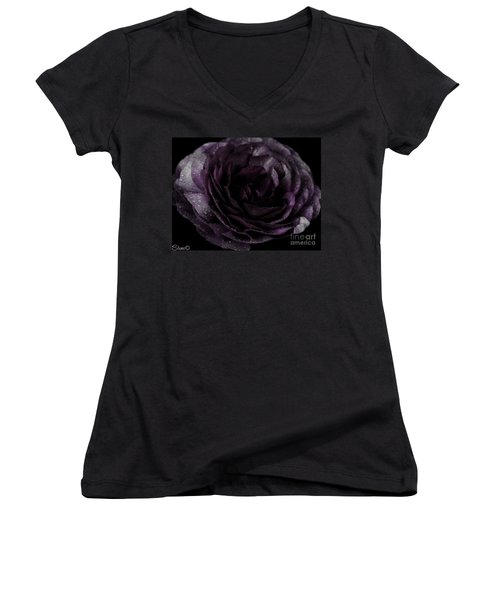 Emily's Great Ant Thingy Flower..... Women's V-Neck (Athletic Fit)