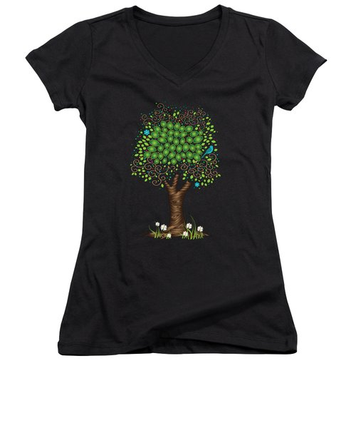 Enchanted Tree Women's V-Neck T-Shirt