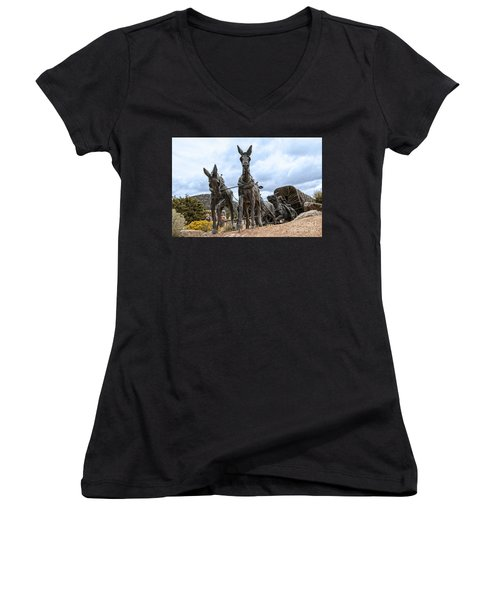 End Of The Long Trail Women's V-Neck