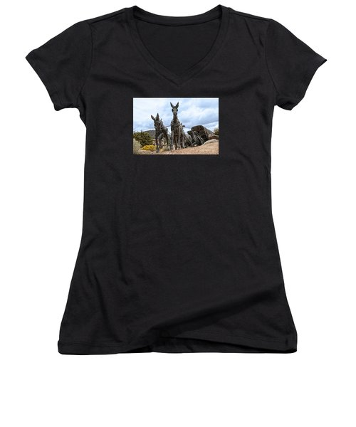 End Of The Long Trail Women's V-Neck T-Shirt