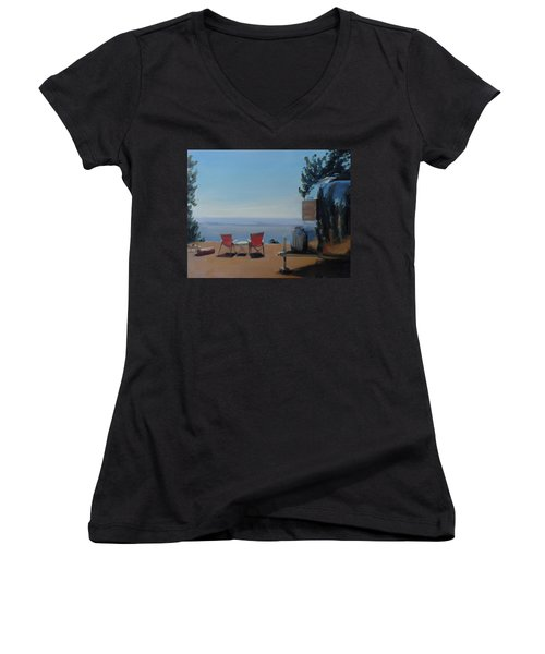 Endless View Boondocking At The Grand Canyon Women's V-Neck (Athletic Fit)