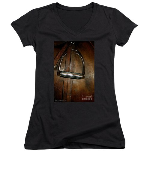 English Leather Women's V-Neck T-Shirt