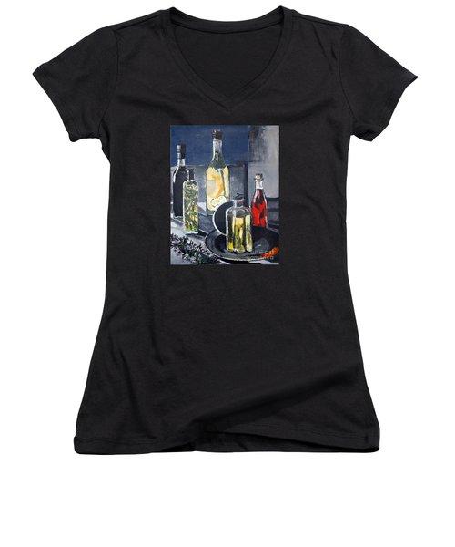 Enliven Salads Women's V-Neck T-Shirt