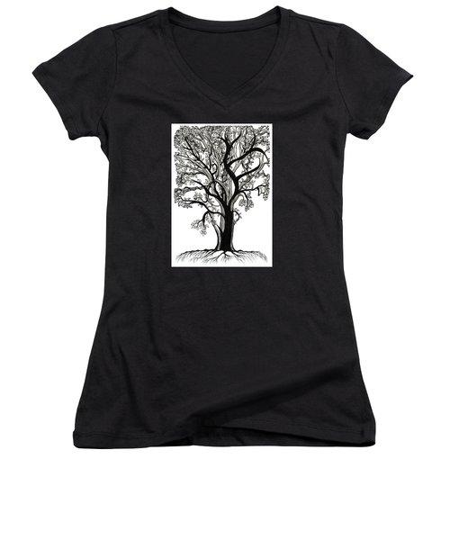 Entangled Women's V-Neck T-Shirt