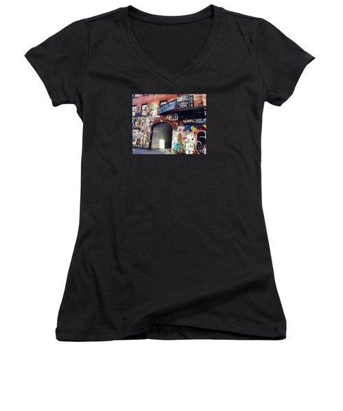 Entrance Women's V-Neck T-Shirt (Junior Cut) by Beth Saffer