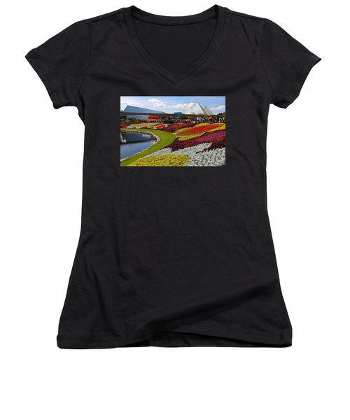Epcot Gardens Women's V-Neck T-Shirt