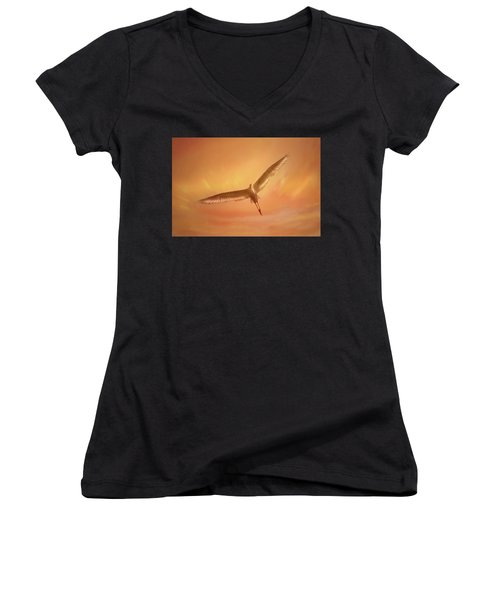Women's V-Neck T-Shirt (Junior Cut) featuring the photograph Epiphany by Marion Cullen