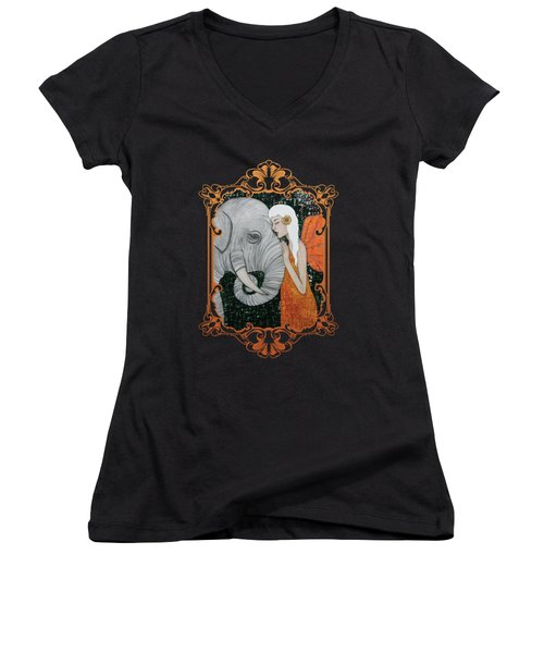 Erynn Rose Women's V-Neck T-Shirt (Junior Cut) by Natalie Briney
