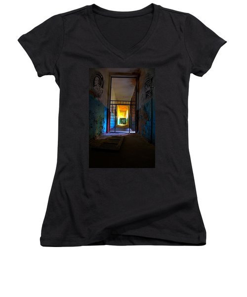 Escaped Women's V-Neck T-Shirt (Junior Cut) by Nathan Wright