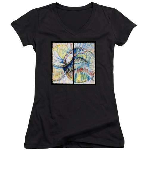 Escaping Reality Women's V-Neck T-Shirt (Junior Cut)
