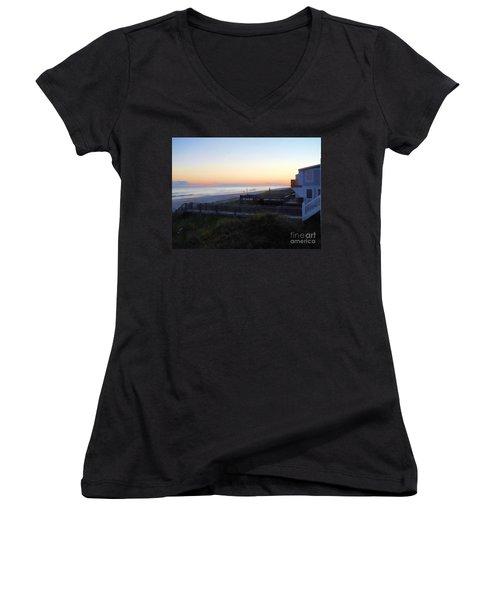 Women's V-Neck T-Shirt (Junior Cut) featuring the photograph Essence by Roberta Byram
