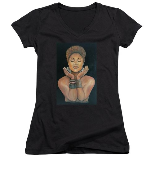 Essential Essence Women's V-Neck T-Shirt (Junior Cut) by Jenny Pickens