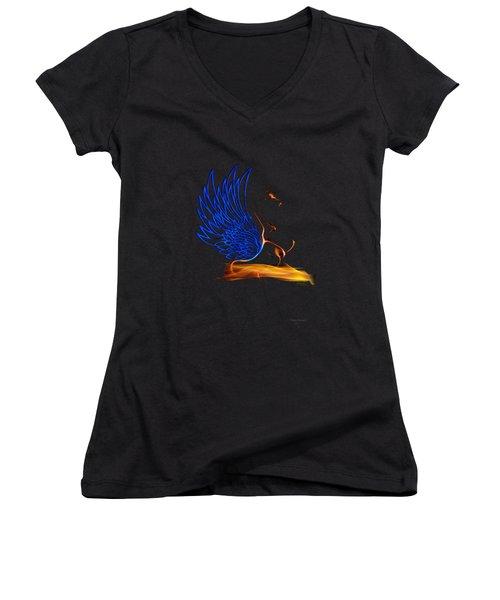 Ethnic Solar Wings Women's V-Neck T-Shirt