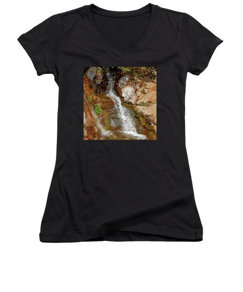 Etiwanda Waterfalls Women's V-Neck (Athletic Fit)