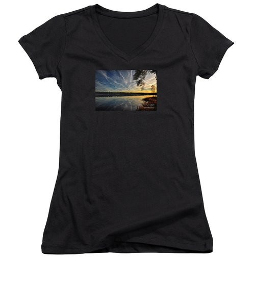 Evening Calm Women's V-Neck (Athletic Fit)