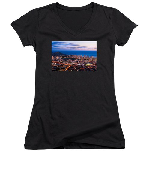Evening In Honolulu Women's V-Neck (Athletic Fit)