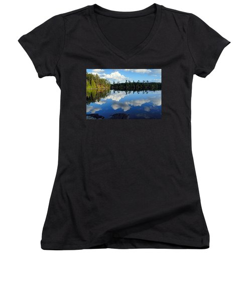 Evening Reflections On Spoon Lake Women's V-Neck (Athletic Fit)