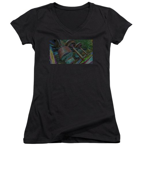 Evolution Is A Smoke Screan 2  Women's V-Neck (Athletic Fit)