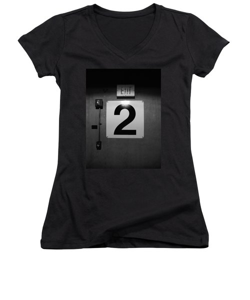 Exit Two Women's V-Neck T-Shirt