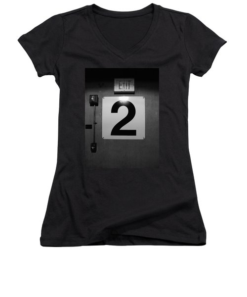 Exit Two Women's V-Neck (Athletic Fit)