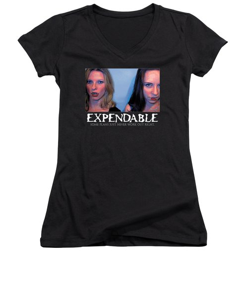 Expendable 15 Women's V-Neck T-Shirt (Junior Cut)