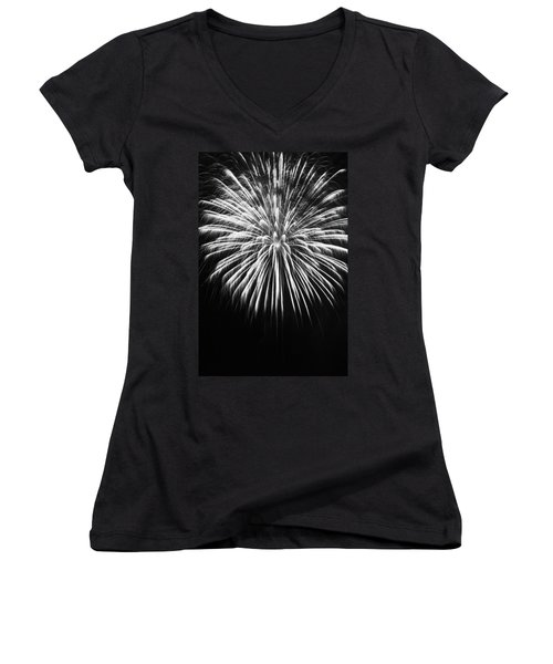 Explosion Women's V-Neck T-Shirt (Junior Cut) by Colleen Coccia