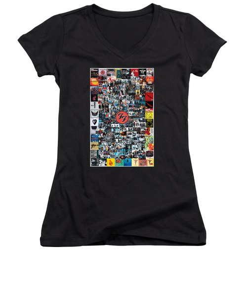 Extraordinary Hero Collage Women's V-Neck (Athletic Fit)