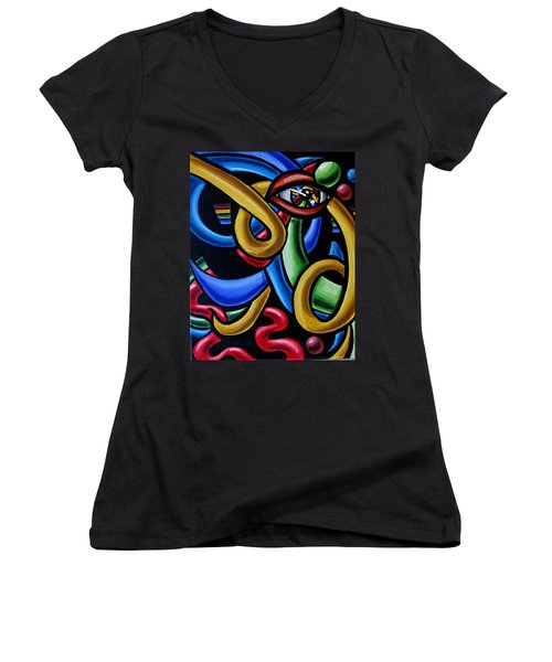 Eye Am The Prize - Chromatic Abstract Art Painting - Print - Ai P. Nilson Women's V-Neck