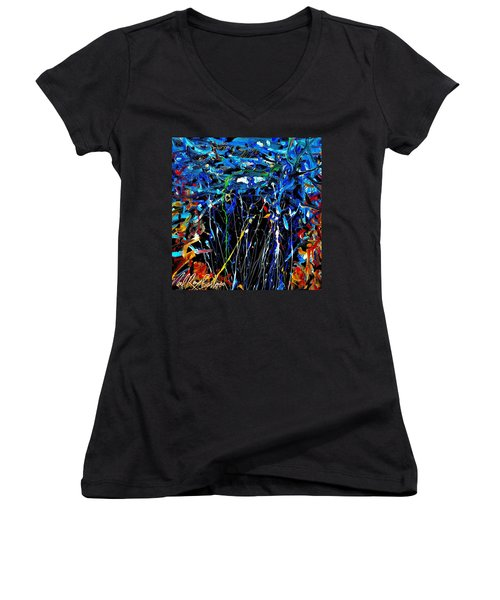 Eye In The Sky And Water Women's V-Neck