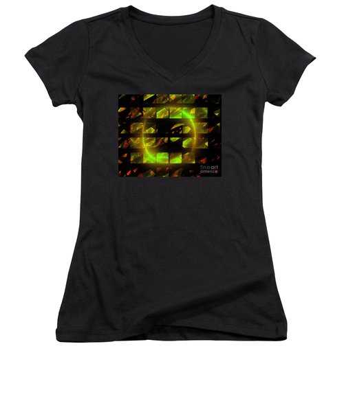 Eye In The Window Women's V-Neck T-Shirt (Junior Cut) by Victoria Harrington