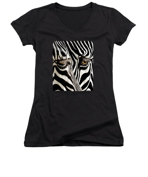 Eyes And Stripes Forever Women's V-Neck (Athletic Fit)