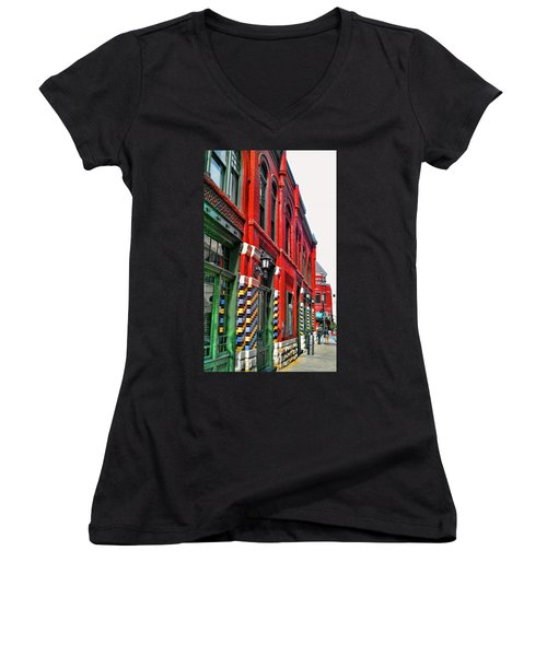 Facade Of Color Women's V-Neck (Athletic Fit)