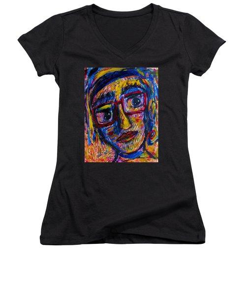 Face 11 Women's V-Neck T-Shirt