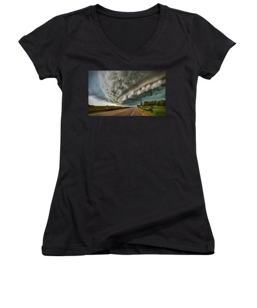 Face In The Storm Women's V-Neck (Athletic Fit)