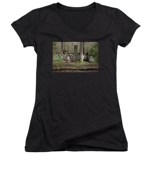 Women's V-Neck T-Shirt (Junior Cut) featuring the photograph Fading Into Tomorrow by Mike Eingle