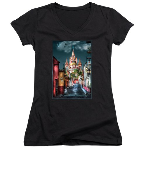 Fairy Tale Street Women's V-Neck (Athletic Fit)