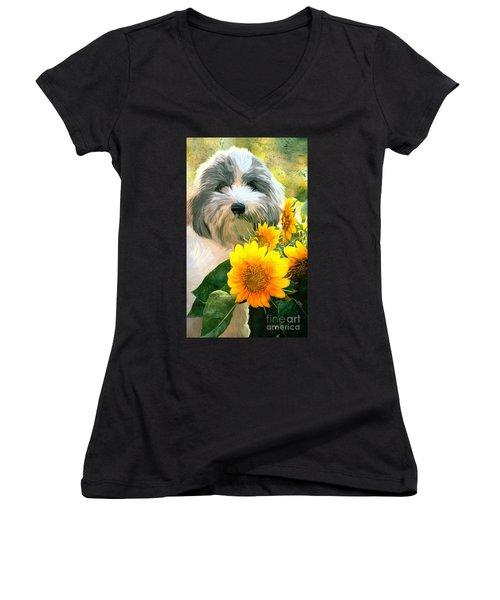 Faithful Floyd Women's V-Neck T-Shirt