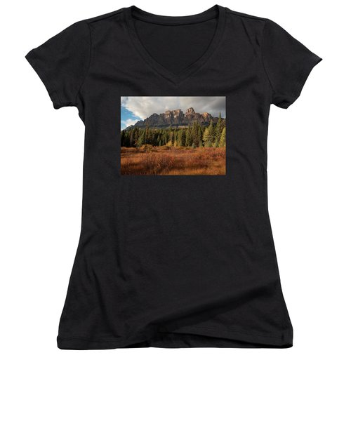 Fall At Castle Mountain Women's V-Neck