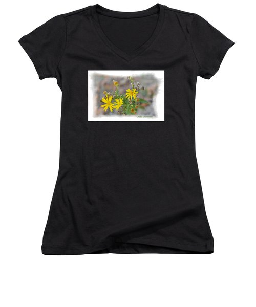 Fall Bloom In Texas I Women's V-Neck (Athletic Fit)