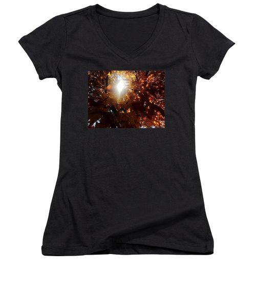 Fall Colors Women's V-Neck (Athletic Fit)