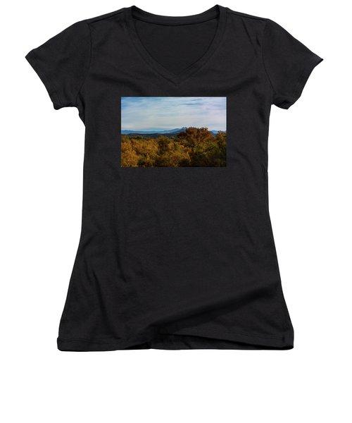 Fall In The Desert Women's V-Neck