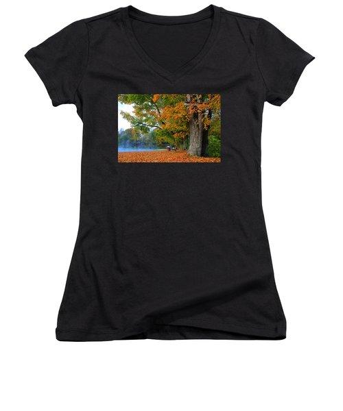 Fall Morning In Jackson Women's V-Neck T-Shirt