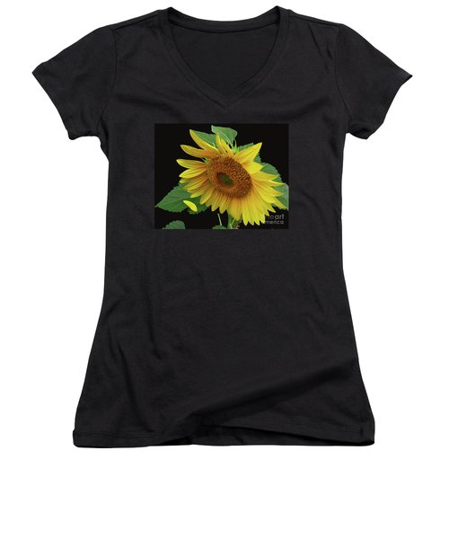 Fallen Women's V-Neck T-Shirt (Junior Cut) by Douglas Stucky