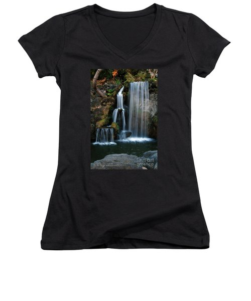Falling For You Women's V-Neck T-Shirt (Junior Cut) by Clayton Bruster